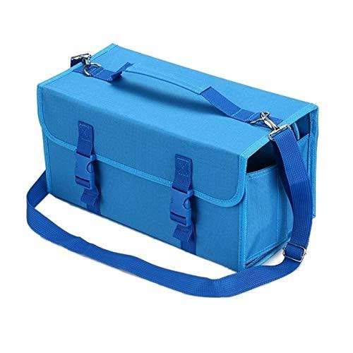 Hmg 2 PCS Marca táctil Pluma Bolsa Bosquejo titulares Bolsa de Almacenamiento Bolso de Pintura, Tamaño: 60 Caja de lápices de Color (Azul) (Color : Blue)