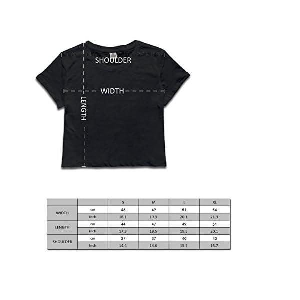 SARA NELL Women's Juniors Galaxy Unicorn Crop Top T-Shirt Tees White 4