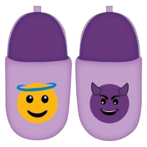 emoji Girl's Scuff Slippers (2-3 M US Little Kid, Purple)