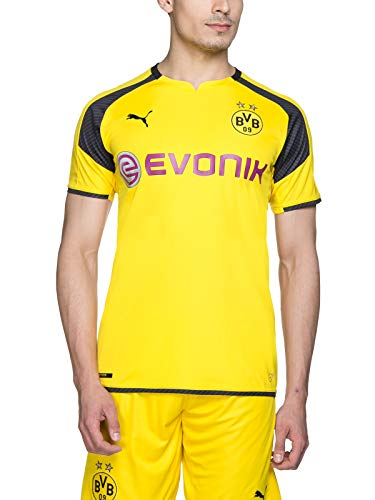PUMA Herren Trikot BVB international Replica Shirt with Sponsor Logo, Gelb-Cyber Yellow/Black, L