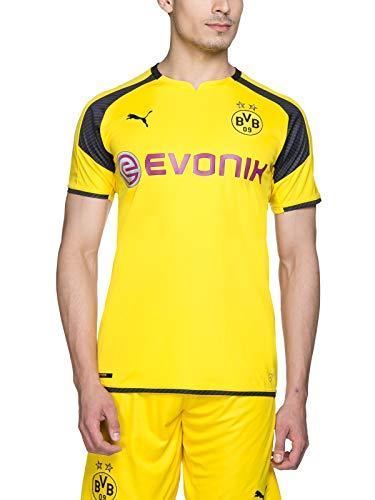 PUMA - Maglietta da Uomo BVB INT 'L Replica Divisa del Borussia Dortmund, Uomo, Trikot BVB International Replica Shirt with Sponsor Logo, Gelb - Cyber Yellow/Black, L