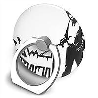 Banksy バンクシー 犬と男 かわいいデザイン スマホリング 円形 エアバッグホルダー ホールドリング 指輪リング 落下防止・片手操作・スタンド機能 薄型 リングスタンド バンカーリング リング スタンド機能 引張り可能 携帯便利 各機種適用