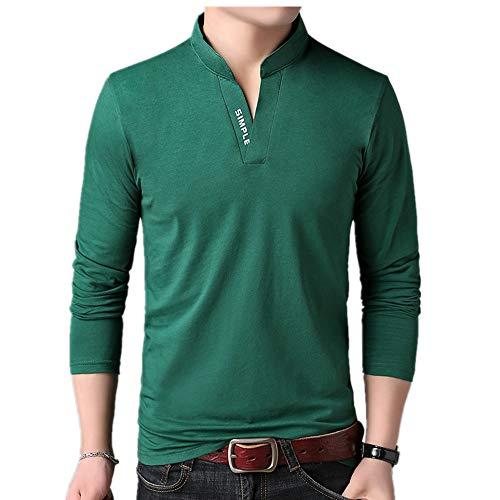 Camiseta de manga larga para hombre de primavera y otoño