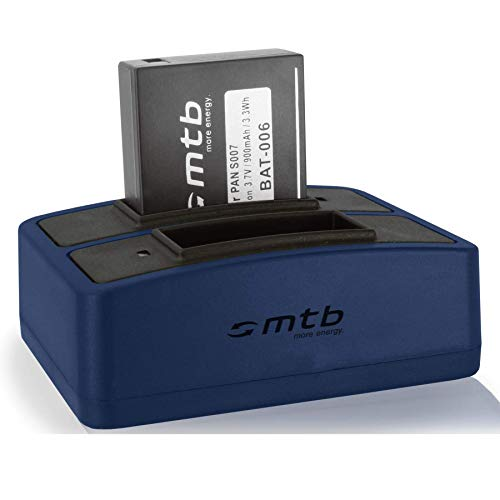 Akku + Dual-Ladegerät (USB) kompatibel mit Panasonic CGA-S007(E), DMW-BCD10 / Lumix DMC-TZ1, TZ2, TZ3, TZ4, TZ5, TZ11, TZ15, TZ50