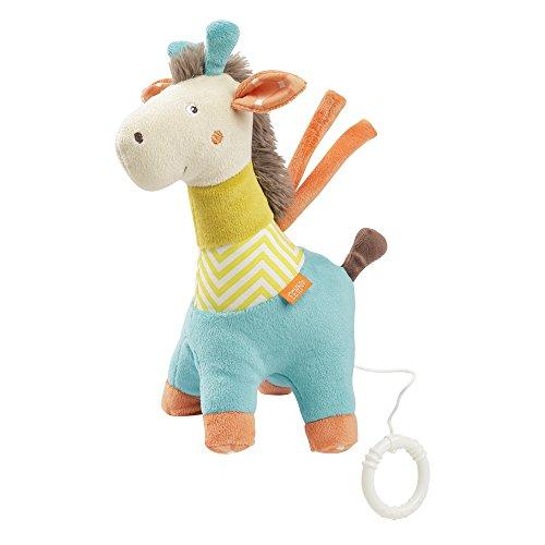 Fehn 066227 Spieluhr Giraffe / Aufzieh-Spieluhr mit herausnehmbarem Spielwerk zum Aufhängen, Kuscheln und Greifen, für Babys und Kleinkinder ab 0+ Monaten