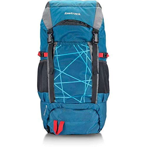 Fastrack Ascent Rucksack -50 L (Black, Blue)