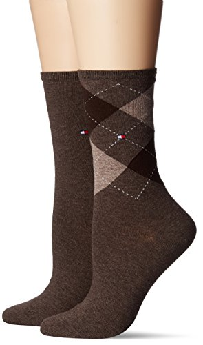 Tommy Hilfiger Damen Socken, 2er Pack, Braun (Oak 778), 35/38