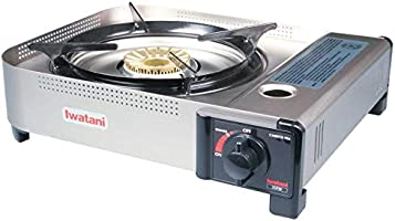 Iwatani 35FW butane stove, Medium, Metallic