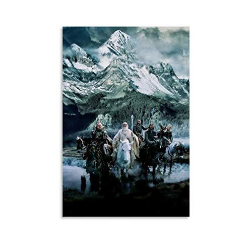 DHSJ Kunstdruck auf Leinwand, Motiv: Herr der Ringe, 60 x 90 cm