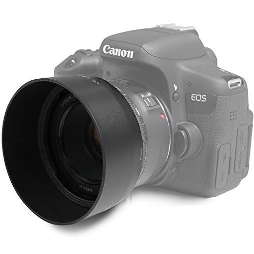 ES-68 Ersatz Gegenlichtblende für Canon EF 50 mm F/1.8 STM Objektiv   1:1   MOVOJA   Sonnenblende Streulichblende Geli   Für EF-Objektive   ES 68 ES68