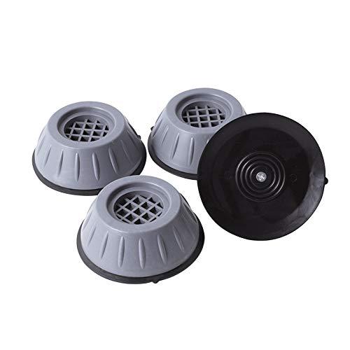 Lalaluka 4 pies de lavadora, amortiguadores de golpes, antivibraciones, ajustables, goma antideslizante para lavadoras, frigoríficos, secadoras, amortiguadores de vibraciones.