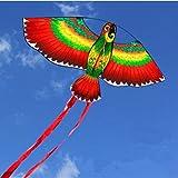 SDCVRE Cometas Deportes de diversión al Aire Libre43inch Parrot Kite/Bird Kites con Mango y línea para Regalos de niños Good Flying, Color Azul, China