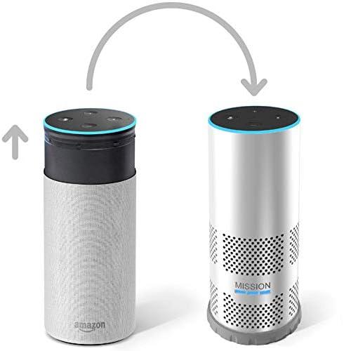 Mission - Cover con batteria integrata per Amazon Echo (2ª generazione), per portare Echo sempre con te, Bianco