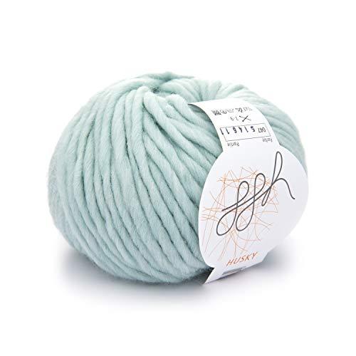 ggh Husky   Schurwolle Mischung   50g Wolle zum Stricken oder Häkeln   Dicke Wolle   Farbe 047 - Mint