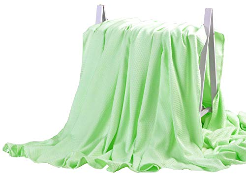 DANGTOP Bamboo Blanket - All Seasons Thin Cooling Blanket for Adults and Teens. (79X91 inches, Large Green).
