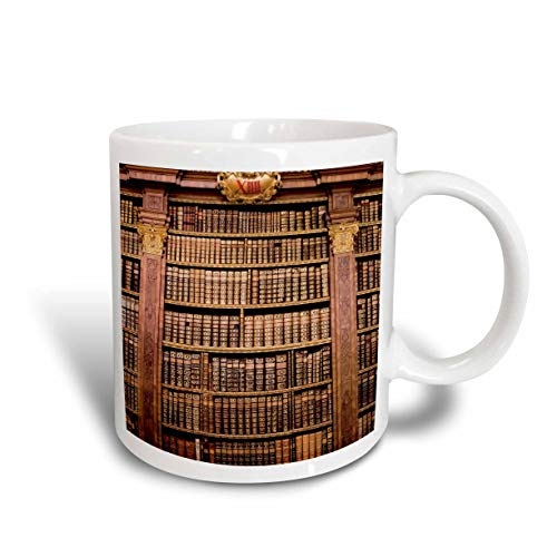 N\A Mug_70733_2 Österreich, Melk-Kloster, Melk-Abtei, Bibliothek Bücher-Eu03 Mgl0002 Miva Stock Ceramic Mug