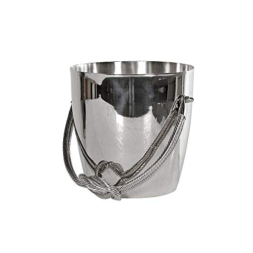TDI Wine Cooler - Stylish Chrome Wine Cooler with Twisted Rope Metal Handle
