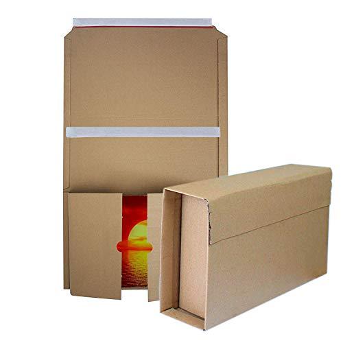 20 Cajas de cartón de altura variable para envíos Cajas para libros Cartón ondulado Marrón 305 x 215 mm hasta 70 mm altura (cl-3122 305x215mm)