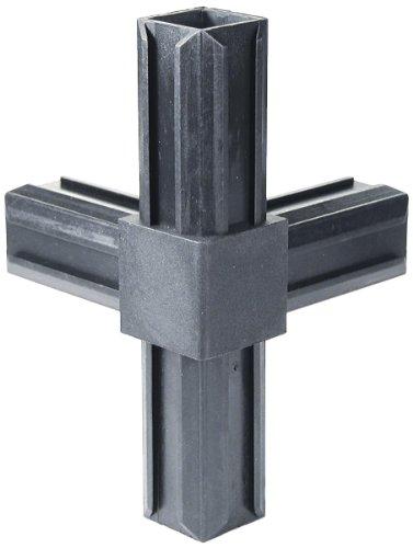 GAH-Alberts 426385 XD-Rohrverbinder - T-Stück und einem weiteren rechtwinkeligen Abgang, Kunststoff, schwarz, 20 x 20 x 1,5 mm / 10 Stück