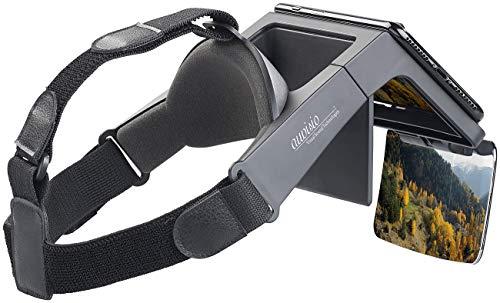 auvisio FPV Brille: Augmented-Reality- und Video-Brille für Smartphones, 69° Sichtfeld (Videobrille für Smartphone)