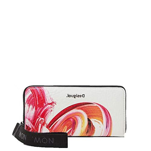 Desigual Long Wallet, Travel Accessory-Cintura Money Donna, Bianco, U