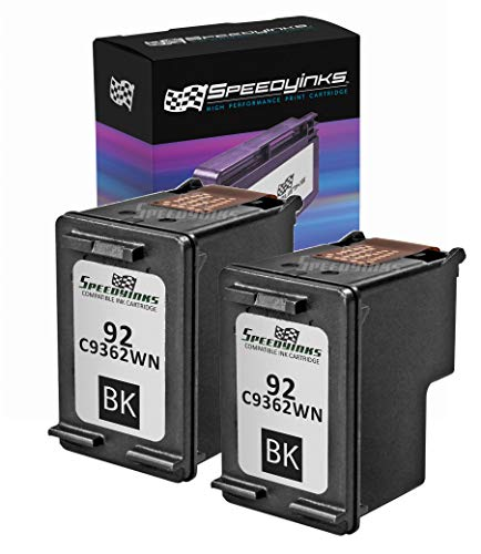 Price comparison product image Speedy Inks Remanufactured Ink Cartridge Replacement for HP 92 (Black,  2-Pack)
