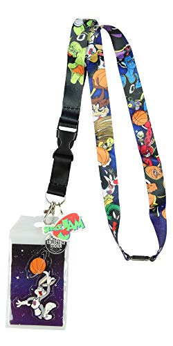 Space Jam ToonSquad Vs Monstars Character Lanyard ID Holder with Mask Rubber Charm and Collectible Sticker