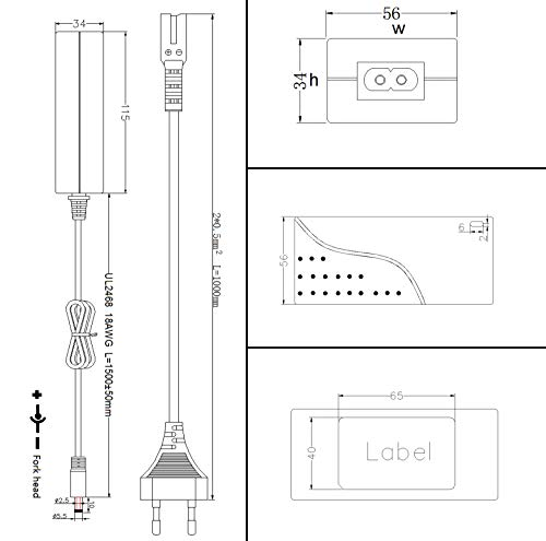 Poppstar Universal AC DC Netzteil 12V 6A 72 W (5,5x2,5mm Anschluss), 2,5 m Kabellänge Gesamt, 5,5x2,1mm Adapter Stecker, Terminalblock