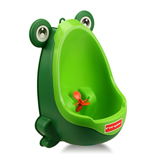 Foryee Cute Frog Potty Training Urinal for Boys with Funny Aiming Target  Blackish Green