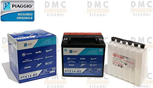 BATTERIA 12V 12AH PIAGGIO BEVERLY 250-300 - 400-500 - PIAGGIO VESPA GTS 250 - PIAGGIO CARNABY 200-250 ORIGINALE PIAGGIO.