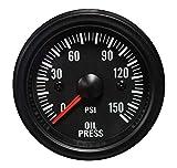 Oil Pressure Gauge- Waterproof Electrical White LED Performance Series...