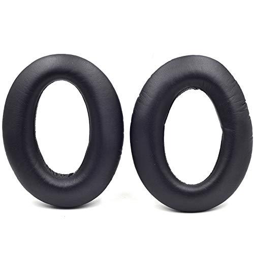 Defean Coussinets de rechange pour casque Sennheiser HD 599 SE HD 598 SR HD569 HD559 HD595 PC360 PXC450 (cuir protéiné noir)