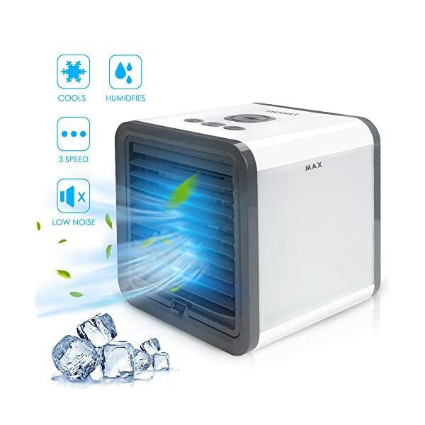 DEKINMAX Air Cooler,3 In 1 Personal Mini Air Conditioner, Mist Diffuser, Humidifier...