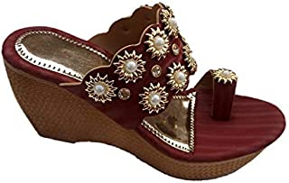 Women's and Girls Casual Sandals Fashion Wedges   4 inches Heels