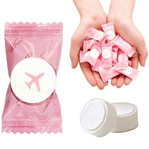 VanFn Disposable Towel, Compressed Towel, Mini Disposable Compressed Washcloth, Cotton Portable Disposable Compressed Towels Perfect for Travel, Home & Outdoor Activities, Nacai Series (100PCS)