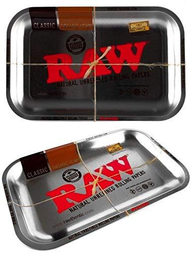 Imagen del productoRAW - Bandejas para liar tabaco, esterillas y ceniceros, Raw Silver Classic, Small