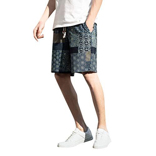Pantalones De Hombre Pantalones Cortos Holgados de Pijama de