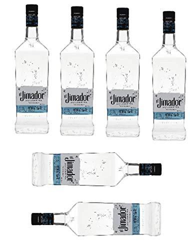 6 Flaschen Tequila el Jimador Blanco 100% Agave - 38% Vol. Zweifach destilliert/Junger, frischer, natürlicher Tequila Großpackung