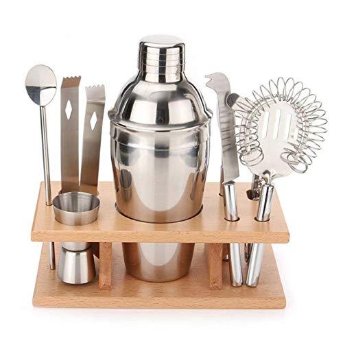 Monllack - Juego de coctelera de acero inoxidable para regalo, juego de barra de cócteles a granel de coctelera mezclador [750 ml]