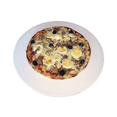 Just-Sale Piedra redonda para pizza de alta calidad, 38 cm de diámetro, para parrilla de gas y horno