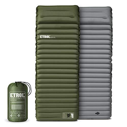 ETROL Camping Isomatte - 2 in 1 aufblasenden Camping Pads mit Kissen (78