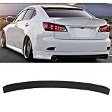 SCITOO ABS Black Rear Trunk Spoiler Wing Exterior Accessories Styling Kits Replacement for Lexus IS350 4-Door Sedan 3.5L Base