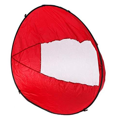 Kayak Wind Sail, Kayak Wind Sail Paddle Canoas Portátil Popup Downwind Sail Kit, Remo Barcos Viento Viento Vela Plegable para Kayaks Canoas y Barcos Inflables (Rojo)