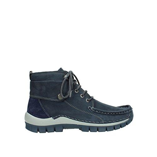 Wolky Damen Stiefeletten Jump Winter Nepal Oiled Leathe 0472550/810 blau 351310