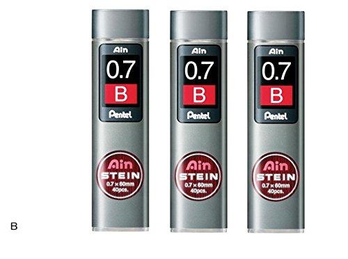 [3piezas.] Pentel portaminas Core de repuesto Ain Stein 0,7mm B 40leads × 3C277-b de Japón