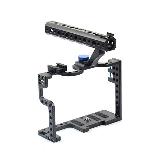 BGNing Kit de aluminio de la jaula de la cámara DSLR con el agarre superior de la manija para el aparejo de la cámara Panasonic Lumix GH5