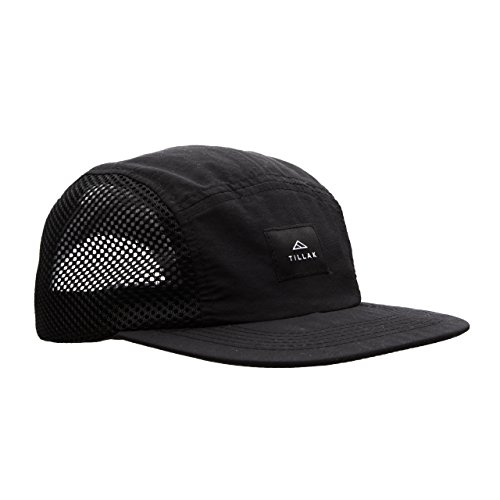 Tillak Wallowa Trail Hat, a Lightweight Nylon and Mesh 5 Panel Black Cap