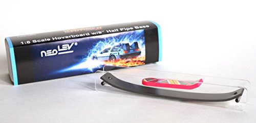 "NeoLev Back to The Future 1:8 Scale Hoverboard (Fingerboard) with 8"" Half Pipe Base"