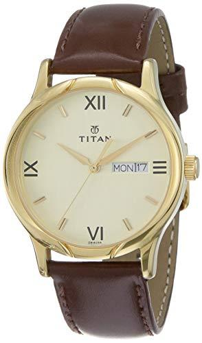 Titan Karishma Analog Champagne Dial Men's Watch -NK1580YL05