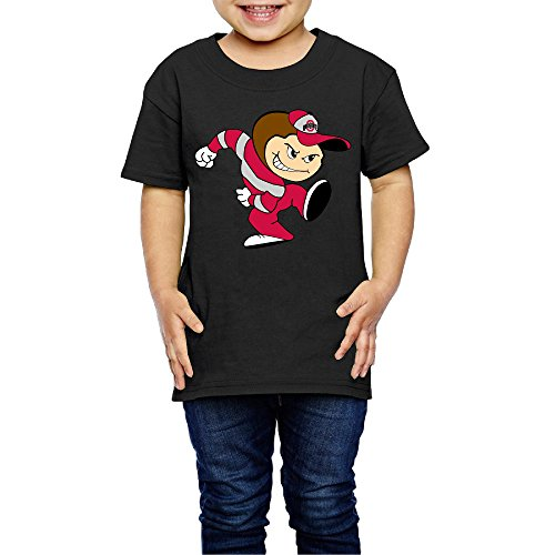 AK79 Kids 2-6 Years Old Boys and Girls Ohio State Buckeyes Football T-Shirt Black Size 3 Toddler